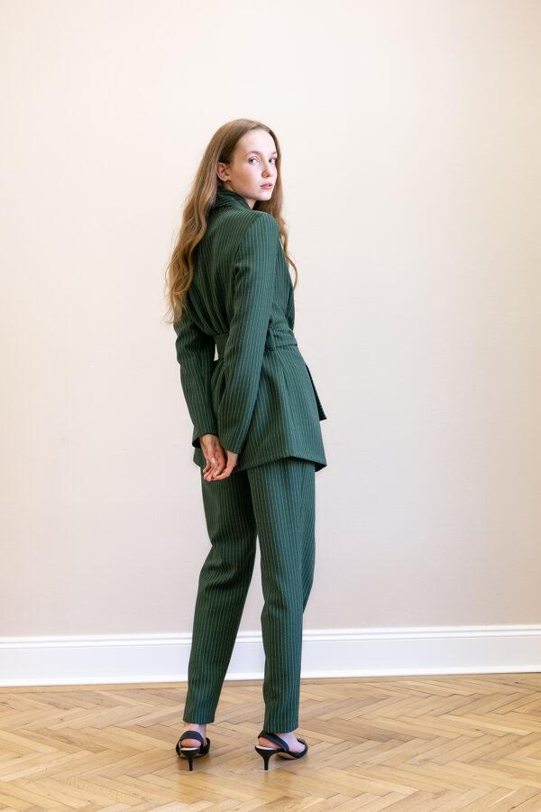 Zelené úzke nohavice