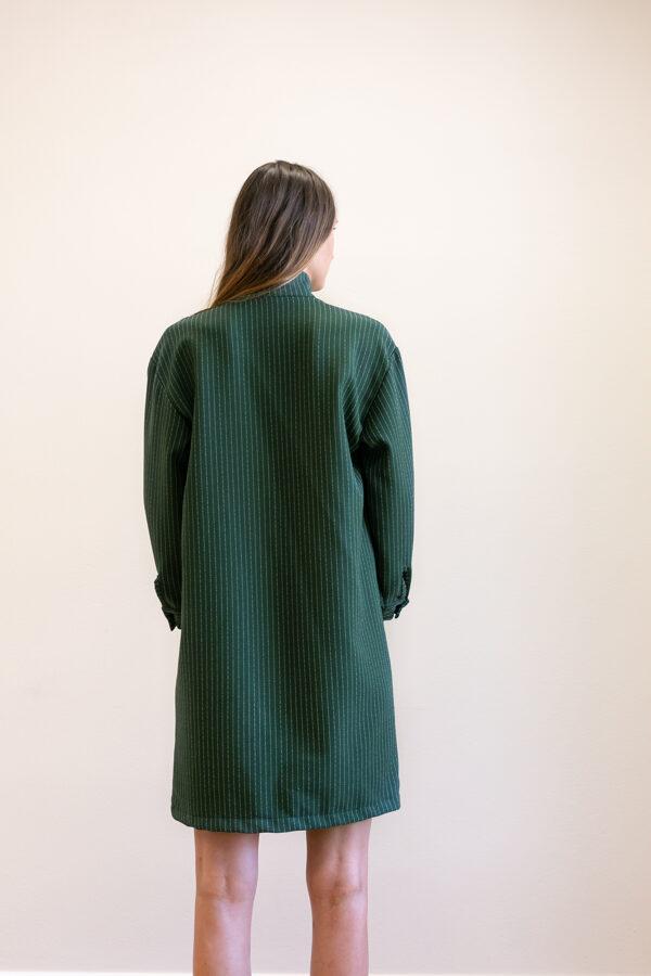 Zelené košeľové šaty- košeľa- tunika