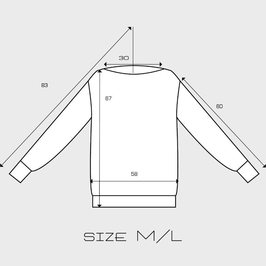 Mikina lodička biela s čiernym logom 03