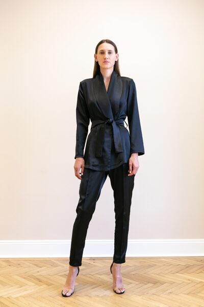 Čierne úzke nohavice